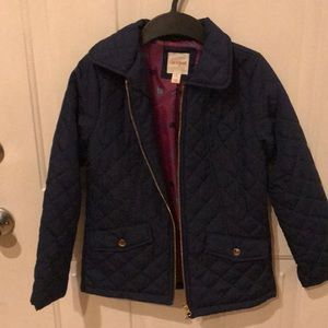 Quilted navy blue cat & Jack coat